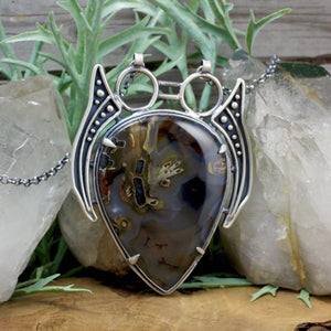 Prophetess Pendant // Agate - acid-queen-jewelry, All Products - acid-queen-jewelry, vendor-unknown - acid-queen-jewelry,  Acid Queen Jewelry - acid-queen-jewelry