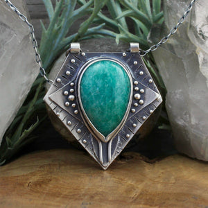 Voyager Pendant // Amazonite - acid-queen-jewelry, All Products - acid-queen-jewelry, vendor-unknown - acid-queen-jewelry,  Acid Queen Jewelry - acid-queen-jewelry
