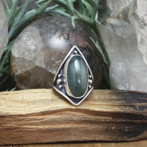 Warrior Ring // Aquamarine  - SIZE 8 - acid-queen-jewelry, All Products - acid-queen-jewelry, vendor-unknown - acid-queen-jewelry,  Acid Queen Jewelry - acid-queen-jewelry