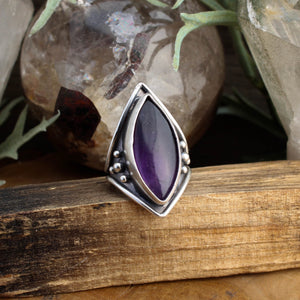 Warrior Ring // Amethyst - SIZE 6 - acid-queen-jewelry, All Products - acid-queen-jewelry, vendor-unknown - acid-queen-jewelry,  Acid Queen Jewelry - acid-queen-jewelry