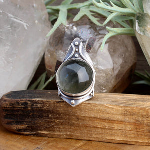 Warmaster Ring // Chlorite Quartz - SIZE 6 - acid-queen-jewelry, All Products - acid-queen-jewelry, vendor-unknown - acid-queen-jewelry,  Acid Queen Jewelry - acid-queen-jewelry