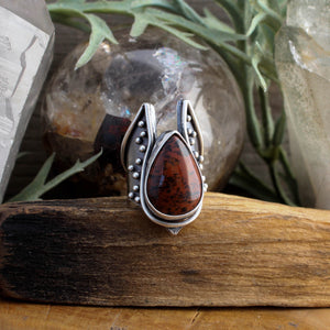 Warmaster Ring // Mahogany Obsidian - SIZE 6 - acid-queen-jewelry, All Products - acid-queen-jewelry, vendor-unknown - acid-queen-jewelry,  Acid Queen Jewelry - acid-queen-jewelry