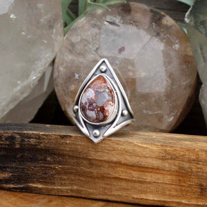 Warrior Ring // Mexican Fire Opal - SIZE 9 - acid-queen-jewelry, All Products - acid-queen-jewelry, vendor-unknown - acid-queen-jewelry,  Acid Queen Jewelry - acid-queen-jewelry