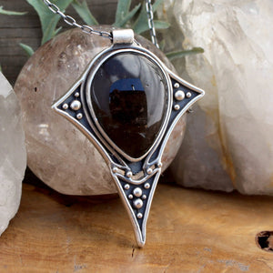 Prophetess Pendant // Smoky Quartz - acid-queen-jewelry, All Products - acid-queen-jewelry, vendor-unknown - acid-queen-jewelry,  Acid Queen Jewelry - acid-queen-jewelry