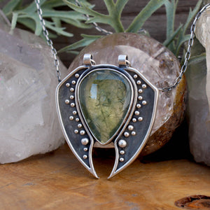 Voyager Pendant //  Prehnite - acid-queen-jewelry, All Products - acid-queen-jewelry, vendor-unknown - acid-queen-jewelry,  Acid Queen Jewelry - acid-queen-jewelry