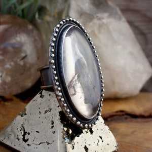 Oracle Ring //  Clear Quartz - SIZE 10 - Acid Queen Jewelry