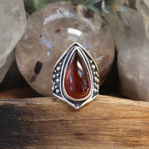 Warrior Ring // Carnelian - Size 9 - acid-queen-jewelry, All Products - acid-queen-jewelry, vendor-unknown - acid-queen-jewelry,  Acid Queen Jewelry - acid-queen-jewelry