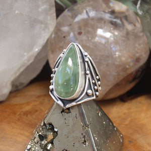 Warrior Ring // Prehnite - Size 10 - acid-queen-jewelry, All Products - acid-queen-jewelry, vendor-unknown - acid-queen-jewelry,  Acid Queen Jewelry - acid-queen-jewelry