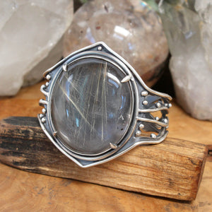 Laced Warrior Cuff // Rutilated Quartz - Acid Queen Jewelry