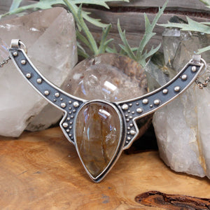 Voyager Neck Cuff // Included Smoky Quartz - acid-queen-jewelry, All Products - acid-queen-jewelry, vendor-unknown - acid-queen-jewelry,  Acid Queen Jewelry - acid-queen-jewelry