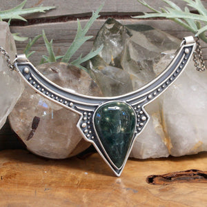Voyager Neck Cuff // Green Jasper - acid-queen-jewelry, All Products - acid-queen-jewelry, vendor-unknown - acid-queen-jewelry,  Acid Queen Jewelry - acid-queen-jewelry