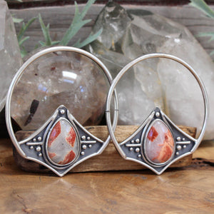 Empress Hoops // Agate - Acid Queen Jewelry