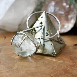 Crystal Ball Pendant // Lodolite - acid-queen-jewelry, All Products - acid-queen-jewelry, vendor-unknown - acid-queen-jewelry,  Acid Queen Jewelry - acid-queen-jewelry