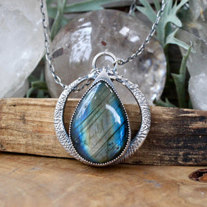 Serpent Queen Pendant // Labradorite - acid-queen-jewelry, All Products - acid-queen-jewelry, vendor-unknown - acid-queen-jewelry,  Acid Queen Jewelry - acid-queen-jewelry
