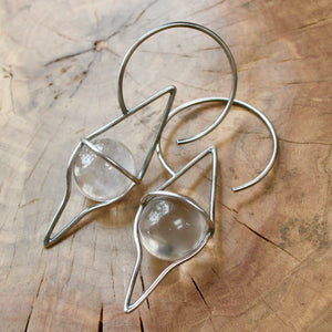 Crystal Ball Ear Weights - acid-queen-jewelry, All Products - acid-queen-jewelry, vendor-unknown - acid-queen-jewelry,  Acid Queen Jewelry - acid-queen-jewelry