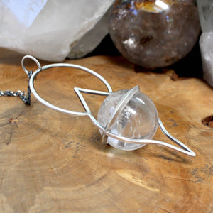 Crystal Ball Pendant // Clear Quartz - acid-queen-jewelry, All Products - acid-queen-jewelry, vendor-unknown - acid-queen-jewelry,  Acid Queen Jewelry - acid-queen-jewelry