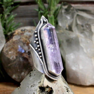 Amplifier Ring // Amethyst- Size 7 - Acid Queen Jewelry