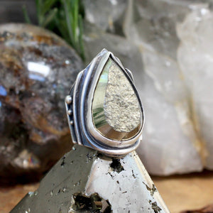 Warrior Ring // Pyrite - Size 6 - acid-queen-jewelry, All Products - acid-queen-jewelry, vendor-unknown - acid-queen-jewelry,  Acid Queen Jewelry - acid-queen-jewelry