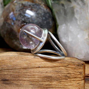 Divination Ring // Amethyst - Size 7.5 - acid-queen-jewelry, All Products - acid-queen-jewelry, vendor-unknown - acid-queen-jewelry,  Acid Queen Jewelry - acid-queen-jewelry