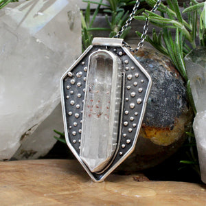 Voyager Shield Pendant // Quartz - acid-queen-jewelry, All Products - acid-queen-jewelry, vendor-unknown - acid-queen-jewelry,  Acid Queen Jewelry - acid-queen-jewelry