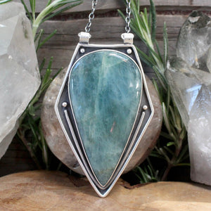 Voyager Pendant // Aquamarine - acid-queen-jewelry, All Products - acid-queen-jewelry, vendor-unknown - acid-queen-jewelry,  Acid Queen Jewelry - acid-queen-jewelry