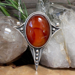 Voyager Pendant // Carnelian - acid-queen-jewelry, All Products - acid-queen-jewelry, vendor-unknown - acid-queen-jewelry,  Acid Queen Jewelry - acid-queen-jewelry