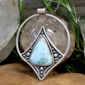Conjurer Pendant // Larimar - Acid Queen Jewelry