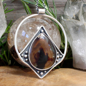 Conjurer Necklace // Amber - acid-queen-jewelry, All Products - acid-queen-jewelry, vendor-unknown - acid-queen-jewelry,  Acid Queen Jewelry - acid-queen-jewelry