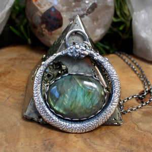 Serpent Queen Necklace // Labradorite - acid-queen-jewelry, All Products - acid-queen-jewelry, vendor-unknown - acid-queen-jewelry,  Acid Queen Jewelry - acid-queen-jewelry