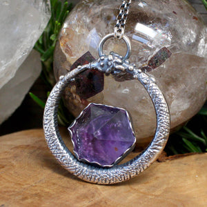 Serpent Queen Necklace // Amethyst - acid-queen-jewelry, All Products - acid-queen-jewelry, vendor-unknown - acid-queen-jewelry,  Acid Queen Jewelry - acid-queen-jewelry