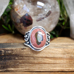 Warrior Ring // Mexican Fire Opal - Size 9 - Acid Queen Jewelry