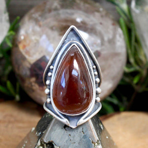 Warrior Ring // Carnelian- Size 9 - acid-queen-jewelry, All Products - acid-queen-jewelry, vendor-unknown - acid-queen-jewelry,  Acid Queen Jewelry - acid-queen-jewelry