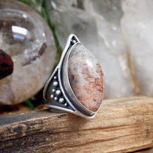 Warrior Ring // Lodolite - Size 10 - acid-queen-jewelry, All Products - acid-queen-jewelry, vendor-unknown - acid-queen-jewelry,  Acid Queen Jewelry - acid-queen-jewelry