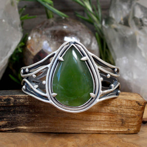 Laced Warrior Cuff // Jade - acid-queen-jewelry, [product_type] - acid-queen-jewelry, Acid Queen Jewelry - acid-queen-jewelry,  Acid Queen Jewelry - acid-queen-jewelry
