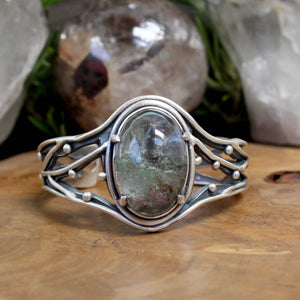 Laced Warrior Cuff // Lodolite - acid-queen-jewelry, [product_type] - acid-queen-jewelry, Acid Queen Jewelry - acid-queen-jewelry,  Acid Queen Jewelry - acid-queen-jewelry
