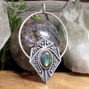 Siona Pendant // Labradorite - acid-queen-jewelry, All Products - acid-queen-jewelry, vendor-unknown - acid-queen-jewelry,  Acid Queen Jewelry - acid-queen-jewelry