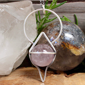 Crystal Ball Pendant //  Smoky Amethyst - Acid Queen Jewelry