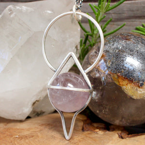 Crystal Ball Pendant //  Smoky Amethyst - acid-queen-jewelry, All Products - acid-queen-jewelry, vendor-unknown - acid-queen-jewelry,  Acid Queen Jewelry - acid-queen-jewelry