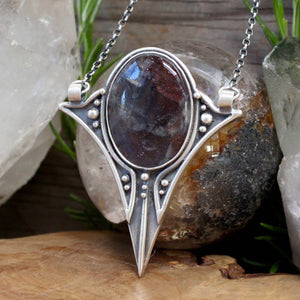Voyager Necklace // Iolite Sunstone - acid-queen-jewelry, All Products - acid-queen-jewelry, vendor-unknown - acid-queen-jewelry,  Acid Queen Jewelry - acid-queen-jewelry