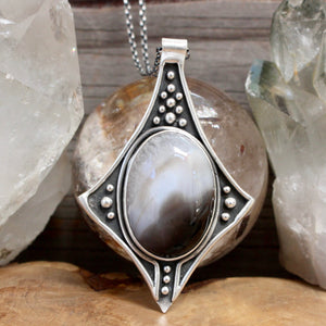 Voyager Necklace // Agate - Acid Queen Jewelry