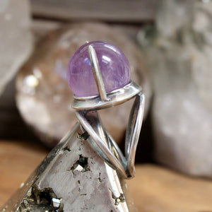 Divination Ring // Amethyst - Size 8 - acid-queen-jewelry, All Products - acid-queen-jewelry, vendor-unknown - acid-queen-jewelry,  Acid Queen Jewelry - acid-queen-jewelry