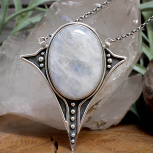 Voyager Necklace // Moonstone - acid-queen-jewelry, All Products - acid-queen-jewelry, vendor-unknown - acid-queen-jewelry,  Acid Queen Jewelry - acid-queen-jewelry