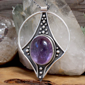 Conjurer Necklace // Amethyst - acid-queen-jewelry, All Products - acid-queen-jewelry, vendor-unknown - acid-queen-jewelry,  Acid Queen Jewelry - acid-queen-jewelry