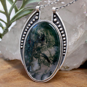 Voyager Necklace // Moss Agate - acid-queen-jewelry, All Products - acid-queen-jewelry, vendor-unknown - acid-queen-jewelry,  Acid Queen Jewelry - acid-queen-jewelry