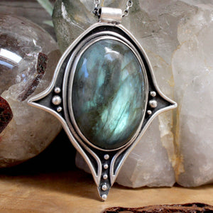 Voyager Necklace // Labradorite - acid-queen-jewelry, All Products - acid-queen-jewelry, vendor-unknown - acid-queen-jewelry,  Acid Queen Jewelry - acid-queen-jewelry
