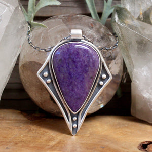 Voyager Necklace // Charoite - acid-queen-jewelry, All Products - acid-queen-jewelry, vendor-unknown - acid-queen-jewelry,  Acid Queen Jewelry - acid-queen-jewelry