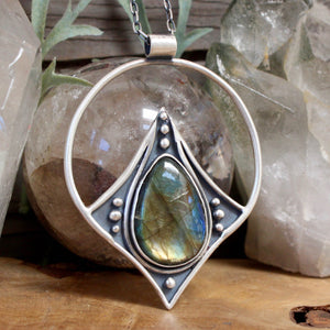 Conjurer Necklace // Labradorite - acid-queen-jewelry, All Products - acid-queen-jewelry, vendor-unknown - acid-queen-jewelry,  Acid Queen Jewelry - acid-queen-jewelry