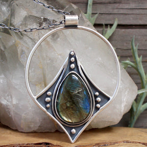 Conjurer Necklace // Labradorite - Acid Queen Jewelry