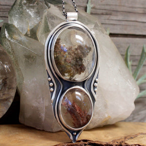 Voyager Necklace // Double Lodolite - acid-queen-jewelry, All Products - acid-queen-jewelry, vendor-unknown - acid-queen-jewelry,  Acid Queen Jewelry - acid-queen-jewelry