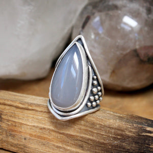 Warrior Ring // Chalcedony - Size 9 - Acid Queen Jewelry